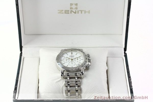 Used luxury watch Zenith Elprimero chronograph steel automatic Kal. 400 Ref. 02.0360.400  | 142287 07