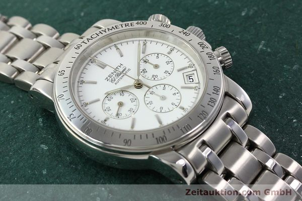 Used luxury watch Zenith Elprimero chronograph steel automatic Kal. 400 Ref. 02.0360.400  | 142287 16