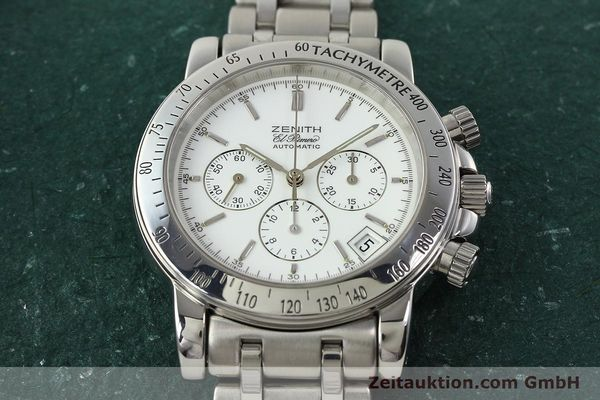 Used luxury watch Zenith Elprimero chronograph steel automatic Kal. 400 Ref. 02.0360.400  | 142287 17