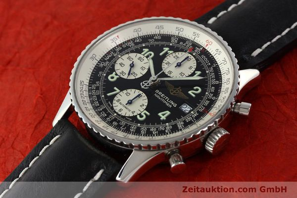 Used luxury watch Breitling Navitimer chronograph steel automatic Kal. B13 ETA 7750 Ref. A13322  | 142288 01
