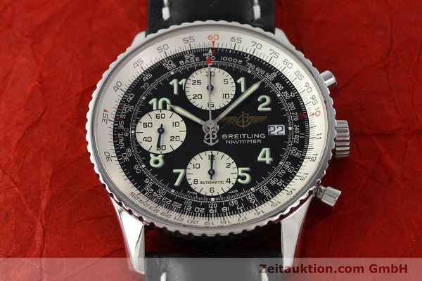 Used luxury watch Breitling Navitimer chronograph steel automatic Kal. B13 ETA 7750 Ref. A13322  | 142288 13