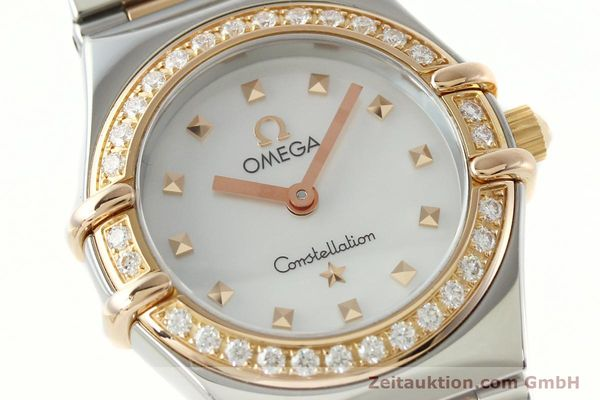 montre de luxe d occasion Omega Constellation acier / or  quartz Kal. 1456 Ref. 13687100  | 142289 02