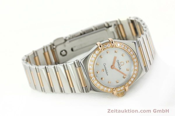 montre de luxe d occasion Omega Constellation acier / or  quartz Kal. 1456 Ref. 13687100  | 142289 03