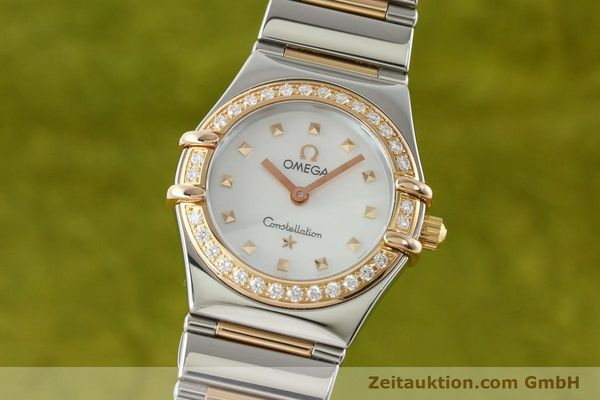 montre de luxe d occasion Omega Constellation acier / or  quartz Kal. 1456 Ref. 13687100  | 142289 04