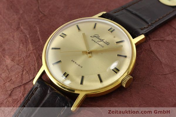 Used luxury watch Glashütte Spezimatic gold-plated automatic Kal. 74  | 142290 01