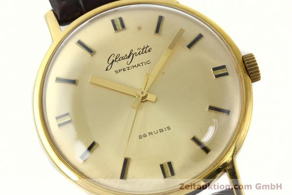 Used luxury watch Glashütte Spezimatic gold-plated automatic Kal. 74  | 142290 02