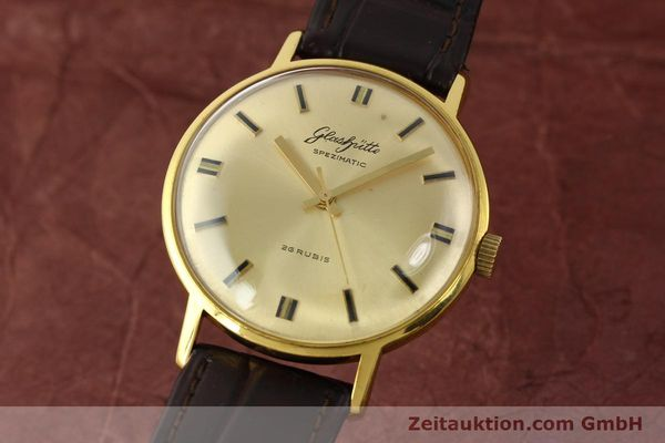 Used luxury watch Glashütte Spezimatic gold-plated automatic Kal. 74  | 142290 04
