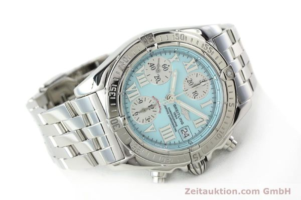 Used luxury watch Breitling Chronomat chronograph steel automatic Kal. B13 ETA 7750 Ref. A13358  | 142295 03