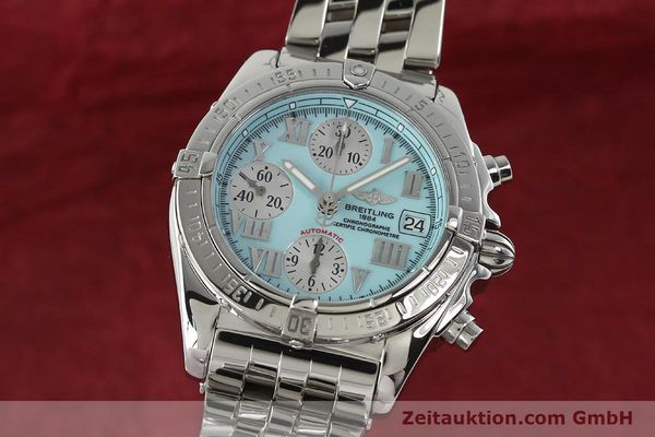 Used luxury watch Breitling Chronomat chronograph steel automatic Kal. B13 ETA 7750 Ref. A13358  | 142295 04
