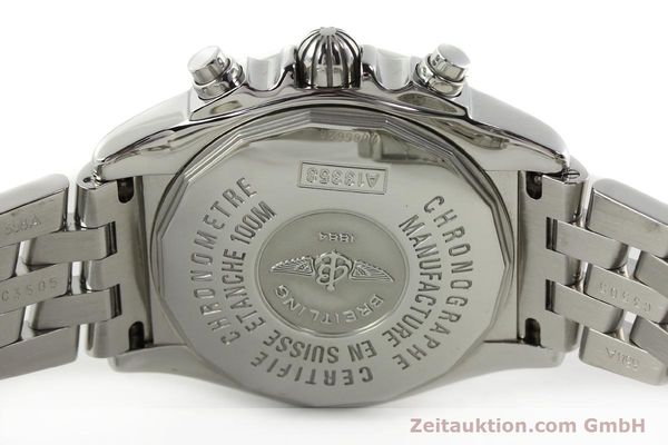 Used luxury watch Breitling Chronomat chronograph steel automatic Kal. B13 ETA 7750 Ref. A13358  | 142295 09