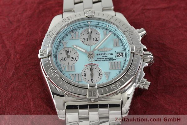 Used luxury watch Breitling Chronomat chronograph steel automatic Kal. B13 ETA 7750 Ref. A13358  | 142295 18