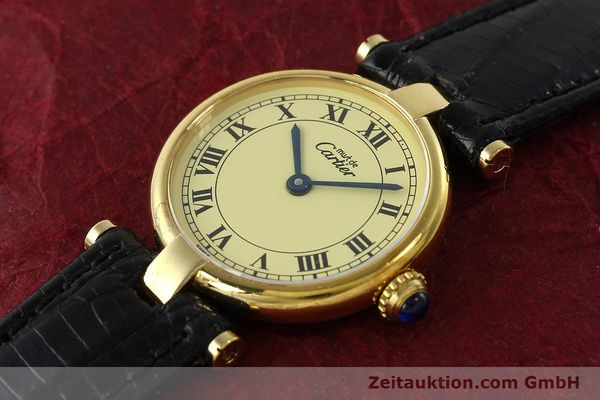 Used luxury watch Cartier Vermeil silver-gilt quartz Kal. 90  | 142308 01