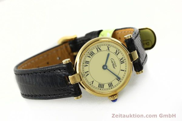 Used luxury watch Cartier Vermeil silver-gilt quartz Kal. 90  | 142308 03