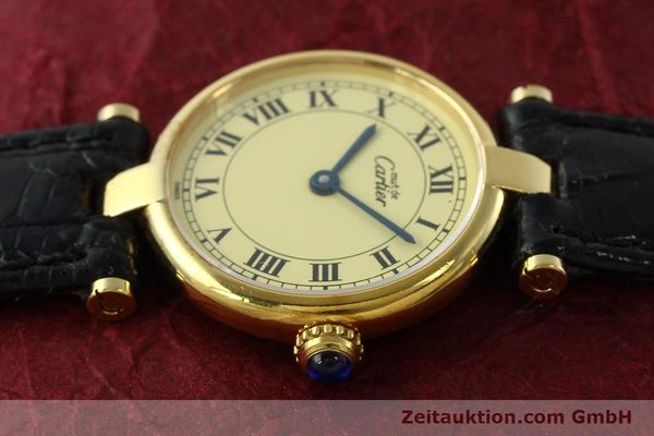 Used luxury watch Cartier Vermeil silver-gilt quartz Kal. 90  | 142308 05