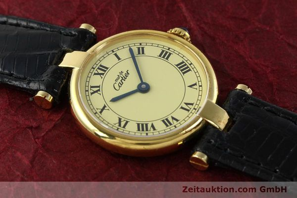 Used luxury watch Cartier Vermeil silver-gilt quartz Kal. 90  | 142308 12
