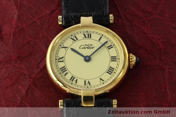 Used luxury watch Cartier Vermeil silver-gilt quartz Kal. 90  | 142308 13