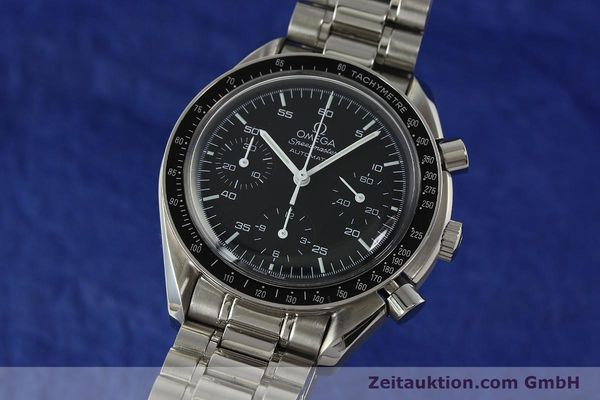 Used luxury watch Omega Speedmaster chronograph steel automatic Kal. 3220 Ref. 35105000  | 142319 04
