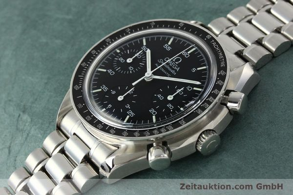 Used luxury watch Omega Speedmaster chronograph steel automatic Kal. 1143 ETA 2890A2  | 142322 01