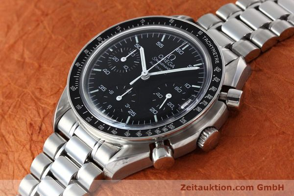 Used luxury watch Omega Speedmaster chronograph steel automatic Kal. 3220  | 142323 01
