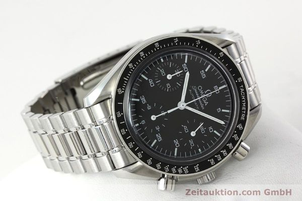 Used luxury watch Omega Speedmaster chronograph steel automatic Kal. 3220  | 142323 03