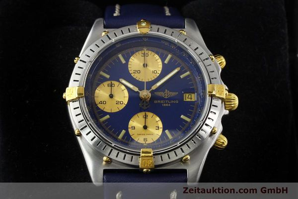 Used luxury watch Breitling Chronomat chronograph steel / gold automatic Kal. B13 VAL 7750 Ref. 81950B13047  | 142326 07