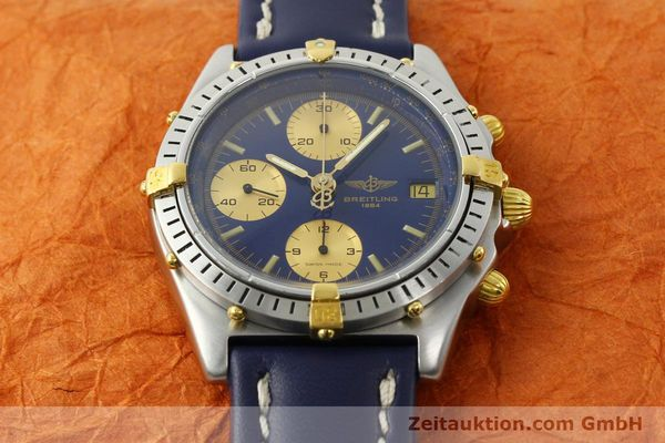 Used luxury watch Breitling Chronomat chronograph steel / gold automatic Kal. B13 VAL 7750 Ref. 81950B13047  | 142326 13