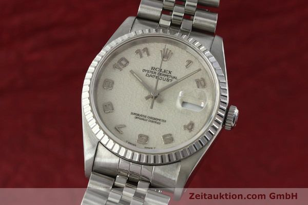 Used luxury watch Rolex Datejust steel automatic Kal. 3135 Ref. 16220  | 142330 04
