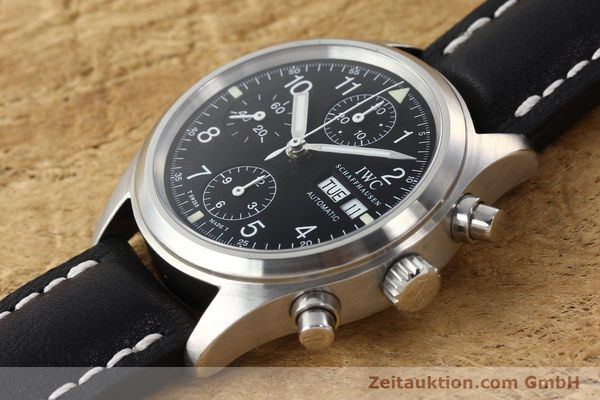 Used luxury watch IWC Fliegerchronograph chronograph steel automatic Kal. 7922 Ref. 3706  | 142331 01