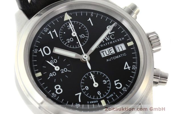 Used luxury watch IWC Fliegerchronograph chronograph steel automatic Kal. 7922 Ref. 3706  | 142331 02