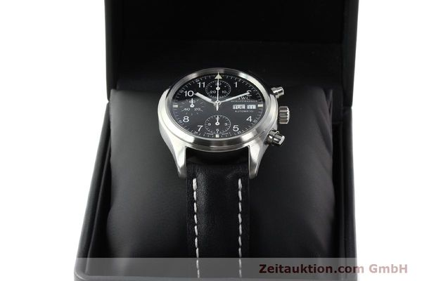 Used luxury watch IWC Fliegerchronograph chronograph steel automatic Kal. 7922 Ref. 3706  | 142331 07