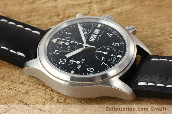 Used luxury watch IWC Fliegerchronograph chronograph steel automatic Kal. 7922 Ref. 3706  | 142331 14