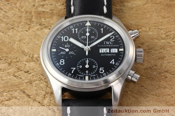 Used luxury watch IWC Fliegerchronograph chronograph steel automatic Kal. 7922 Ref. 3706  | 142331 15