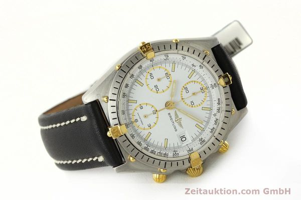 Used luxury watch Breitling Chronomat chronograph steel / gold automatic Kal. VAL 7750 Ref. 81950  | 142334 03