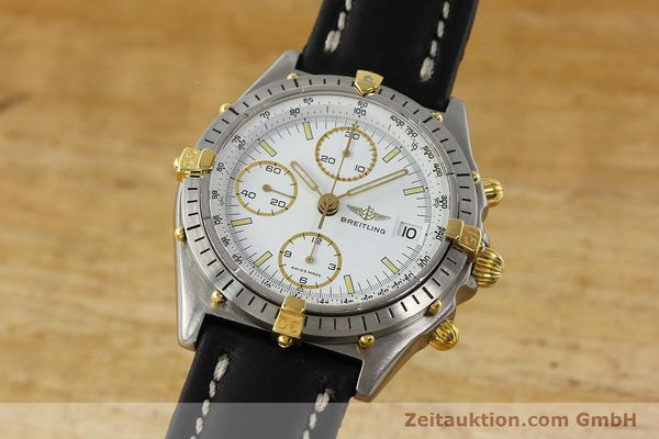 Used luxury watch Breitling Chronomat chronograph steel / gold automatic Kal. VAL 7750 Ref. 81950  | 142334 04