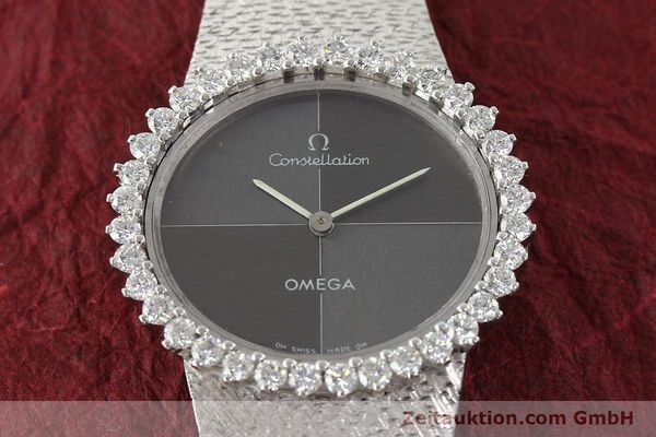 reloj de lujo usados Omega Constellation oro blanco de 18 quilates cuerda manual Kal. 700  | 142339 16