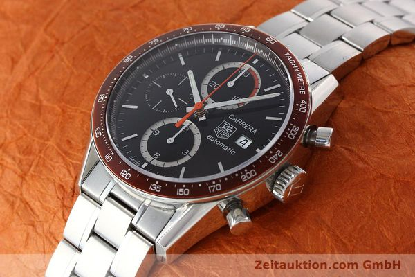Used luxury watch Tag Heuer Carrera chronograph steel automatic Kal. 16 ETA 7750 Ref. CV2013-3  | 142341 01