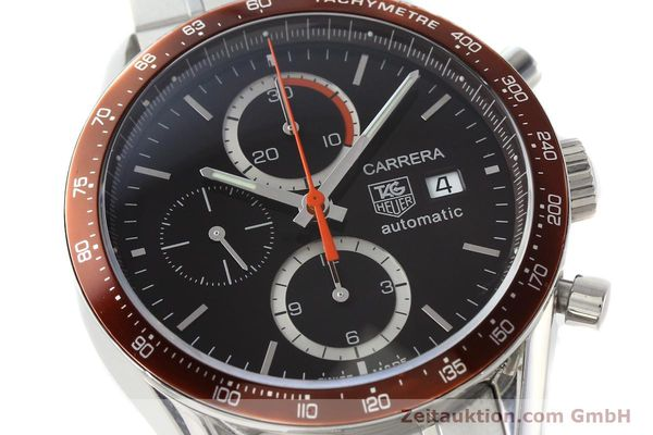Used luxury watch Tag Heuer Carrera chronograph steel automatic Kal. 16 ETA 7750 Ref. CV2013-3  | 142341 02