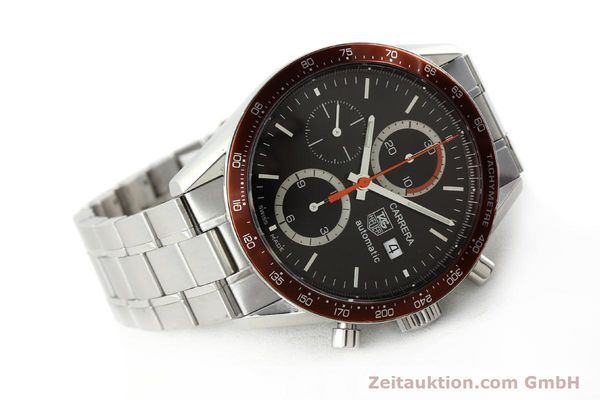 Used luxury watch Tag Heuer Carrera chronograph steel automatic Kal. 16 ETA 7750 Ref. CV2013-3  | 142341 03