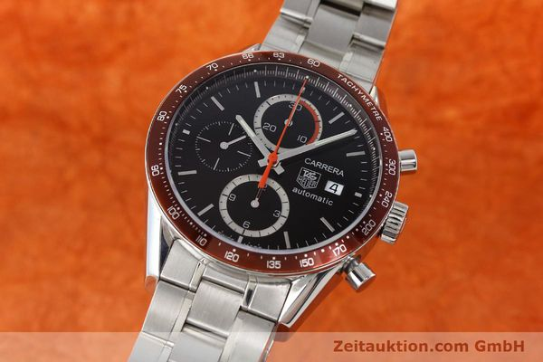 Used luxury watch Tag Heuer Carrera chronograph steel automatic Kal. 16 ETA 7750 Ref. CV2013-3  | 142341 04