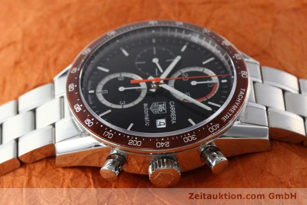 Used luxury watch Tag Heuer Carrera chronograph steel automatic Kal. 16 ETA 7750 Ref. CV2013-3  | 142341 05