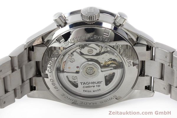 Used luxury watch Tag Heuer Carrera chronograph steel automatic Kal. 16 ETA 7750 Ref. CV2013-3  | 142341 09
