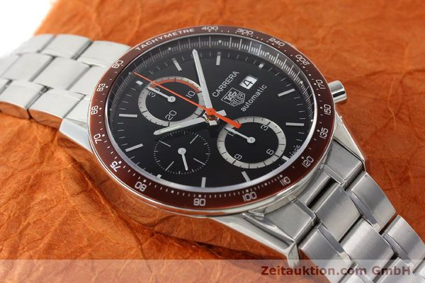 Used luxury watch Tag Heuer Carrera chronograph steel automatic Kal. 16 ETA 7750 Ref. CV2013-3  | 142341 15