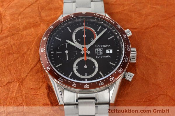 Used luxury watch Tag Heuer Carrera chronograph steel automatic Kal. 16 ETA 7750 Ref. CV2013-3  | 142341 16