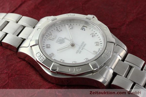 Used luxury watch Tag Heuer Aquaracer steel quartz Kal. ETA F06.111 Ref. WAF1312  | 142342 14