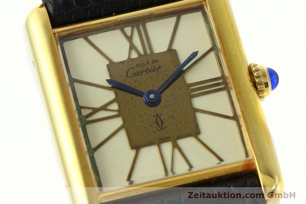 Used luxury watch Cartier Tank silver-gilt quartz Kal. 81  | 142343 02