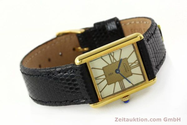 Used luxury watch Cartier Tank silver-gilt quartz Kal. 81  | 142343 03