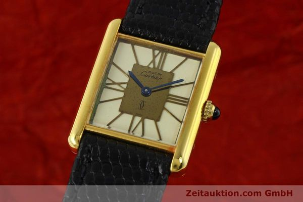 Used luxury watch Cartier Tank silver-gilt quartz Kal. 81  | 142343 04