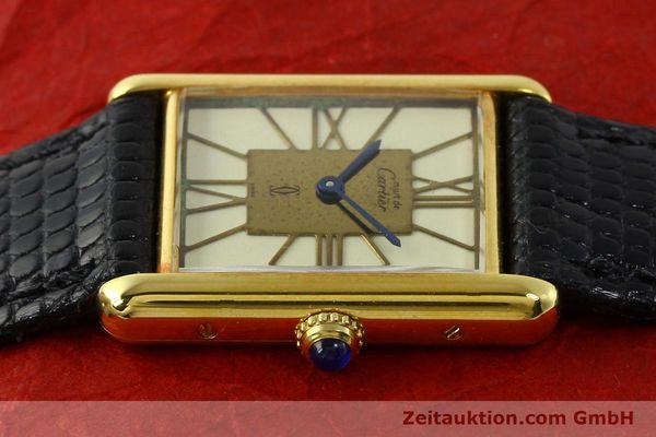 Used luxury watch Cartier Tank silver-gilt quartz Kal. 81  | 142343 05