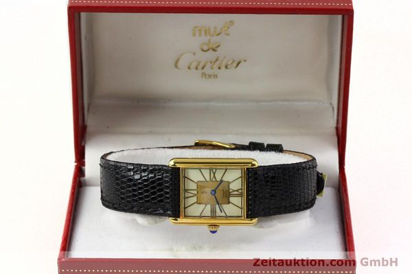 Used luxury watch Cartier Tank silver-gilt quartz Kal. 81  | 142343 07