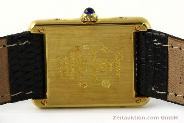 Used luxury watch Cartier Tank silver-gilt quartz Kal. 81  | 142343 09
